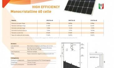 High efficiency mono 60